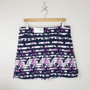 NWT Lady Hagen | Stripes & Floral Golf Skort
